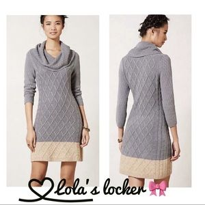 Anthropologie Sparrow Cable Knit Sweater Dress